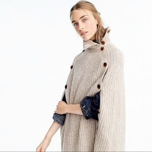 J.Crew Convertible Sweater Cape S/M